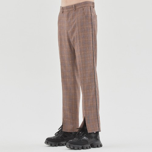 CANABY STREET CHECK PANTS_BEIGE