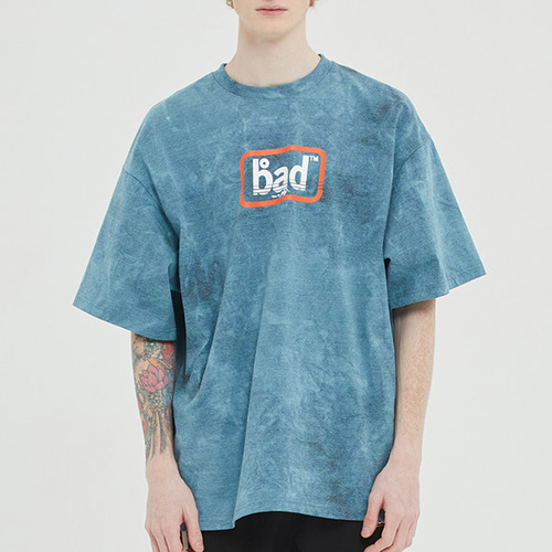 EXPRESS LOGO TIE DYE TEE_BLUE GREEN