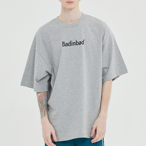 OVER LAP LOGO TEE_GREY