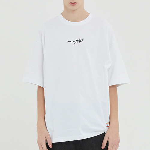 BAD IN LABELING TEE_WHITE