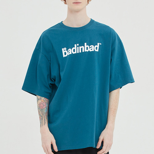 TAPING LOGO TEE_BLUE GREEN