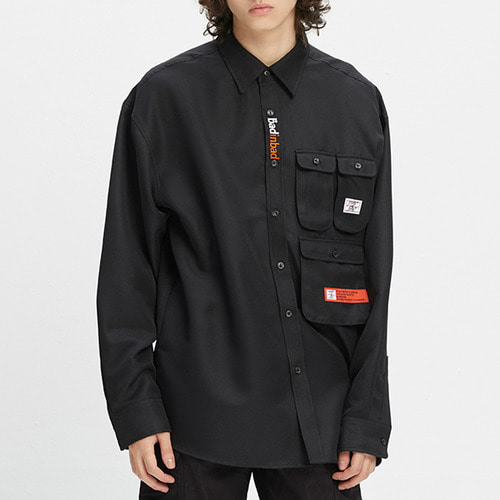 MULTI POCKET SHIRT_BLACK